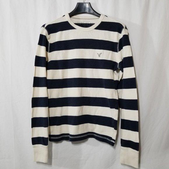American Eagle striped cotton pullover top